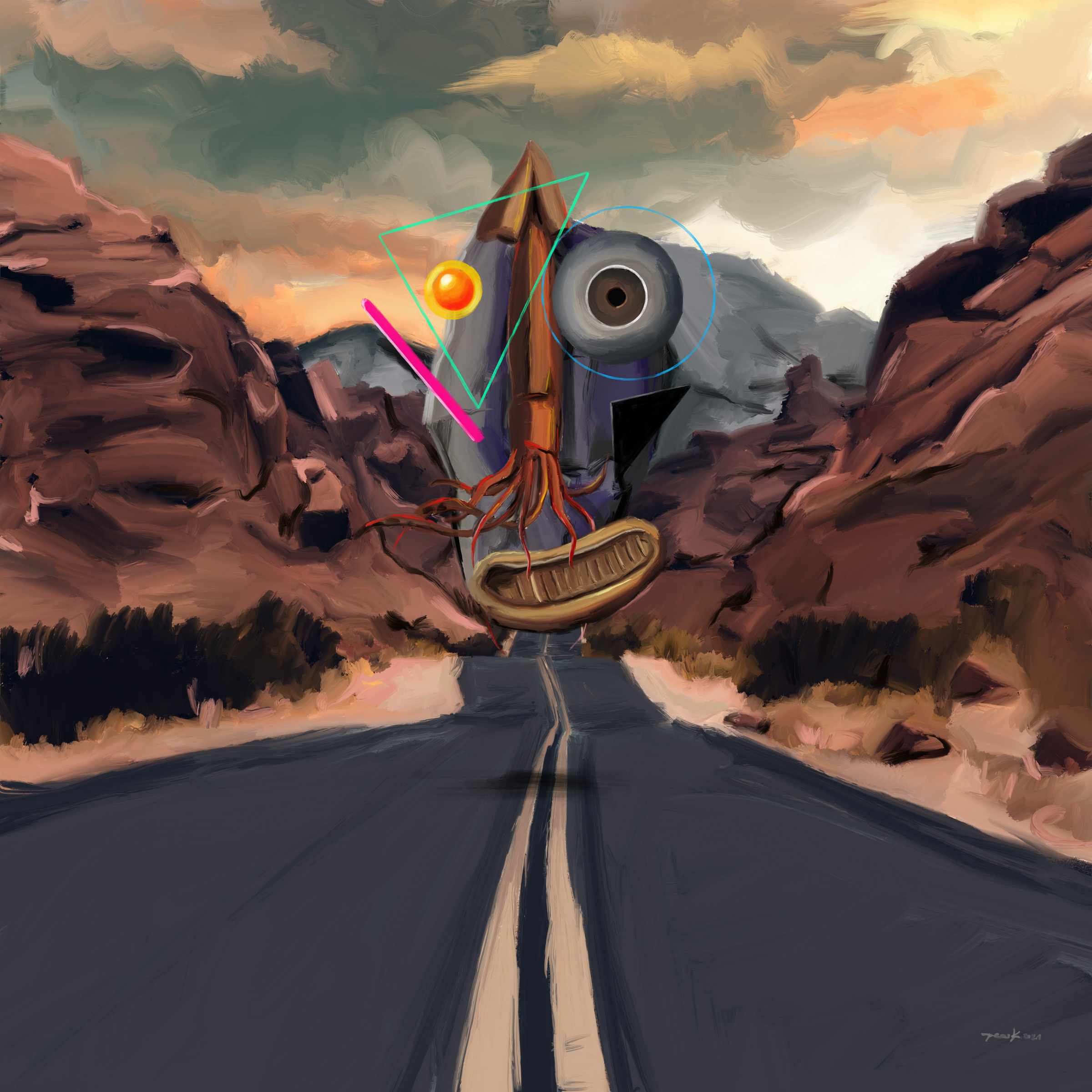 The Unknown On His Way